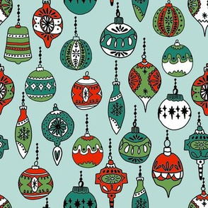 christmas ornaments // christmas vintage xmas red and green xmas holiday design