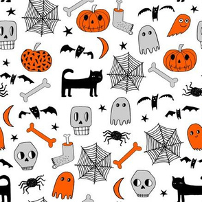 halloween // halloween fabric pumpkin and grey fabric grey spider spiderwebs shots orange spider fabric by andrea lauren