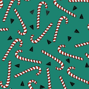 candy cane // candy canes christmas red and green christmas