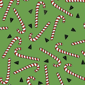 candy canes // red and green christmas fabric christmas xmas holiday fabric by andrea lauren