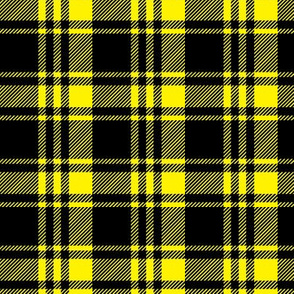 black and yellow fall plaid