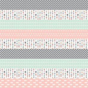 pink/grey/mint wholecloth arrows V2