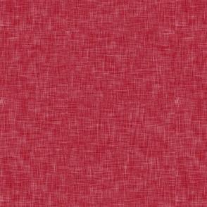 red linen coordinate