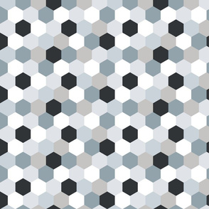 Small Scale - Wholecloth Hexi Quilt Top // Neutrals
