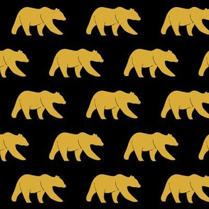 bear (small scale)    gold on black