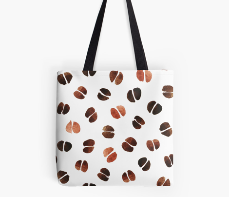 Coffee Beans Watercolor Pattern