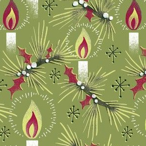 Christmas Candles - Gold/Red