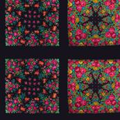 black russian floral shawls mini