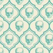French skulls - bone & blue
