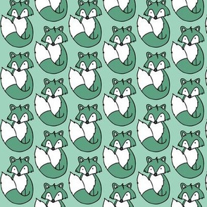 Fox // Mint background
