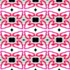 Pixel heart flower