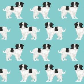 japanese chin  dog blue pet pets japanese chin dog fabric