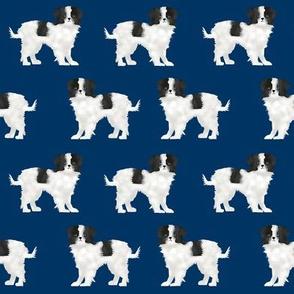 japanese chin dog breed fabric navy blue dog breed dogs fabric