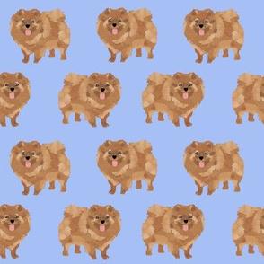 pomeranian cute pom dog pom dog sweet pomeranian dog fabric