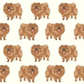 pomeranian cute dog pet dogs pom dog pomeranians dog fabric