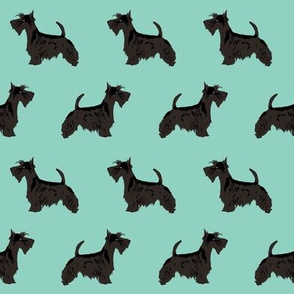 scottie dog cute scottish terrier mint scottish terrier fabric for scottie owners