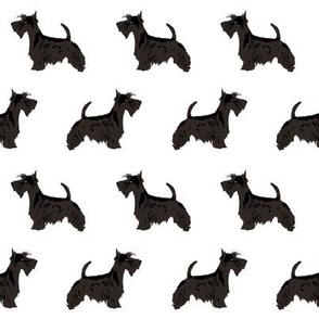 scottie dog cute scottish terrier dog fabric black and white scottie dog fabric