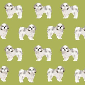 shih tzu fabric lime cute dog fabric toy breed dog sweet shih tzu