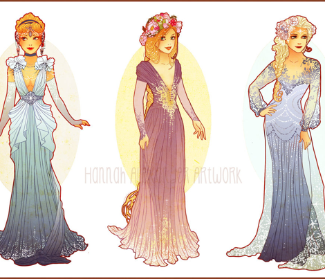 Elsa Cosplay Part 1 inspired by Hannah Alexander's Art Nouveau Design Ombreves inspired by Hannah Alexander's Art Nouveau Design