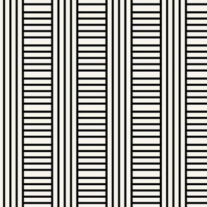 TESTING OFFSET V Geometric stripe play in black and off-white by Su_G