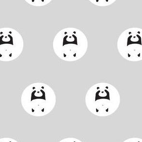 panda peek-a-boo polka dot