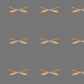 Crossed Canoe Paddles