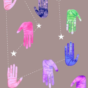Magical Galaxy Hands - Larger Scale