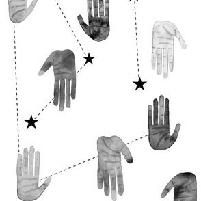 Black and White Magical Hands - Larger Scale