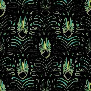 Damaska (Black with Green)