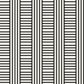 TESTING OFFSET H Geometric stripe play in black and off-white by Su_G