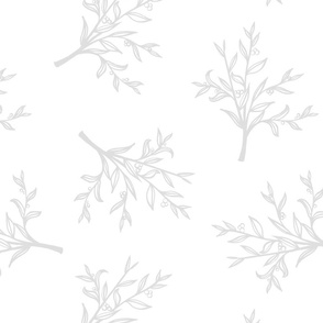 Tiled Branches - Grey