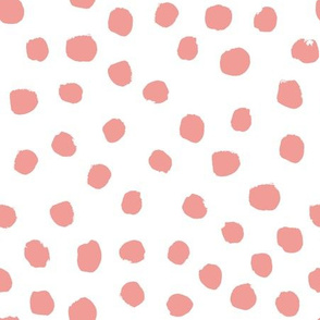 blush dots painted dots mini coordinate for girls room
