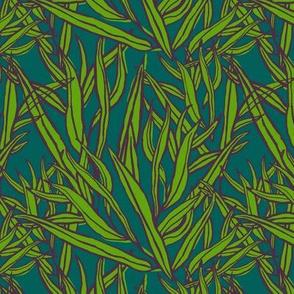 B willow: deep pine + plum + asparagus