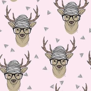 Pink Hipster Deer