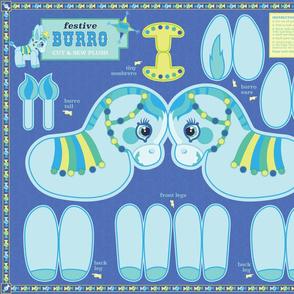 burro plush in blue