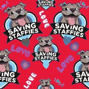 Saving Staffies - Charity Design-red
