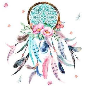"""8"""" Pink & Aqua Dreamcatcher"""