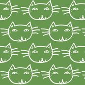 Vintage Cat Green