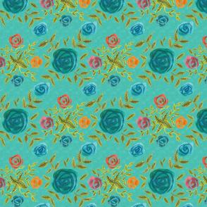 Rosalie - turquoise roses