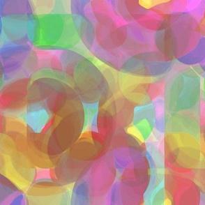 Translucent Overlay Rainbow Play