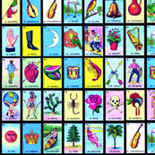 Loteria small on black