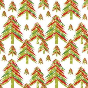 Paint stroke Christmas Trees