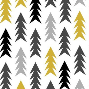trees mustard and grey trees woodland forest grey and mustard