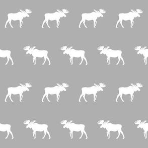 moose fabric light grey decor nursery baby