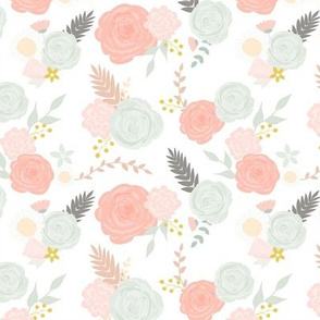 Custom summer blooms with grey leaves