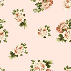 Vintage Tea Roses in Pink