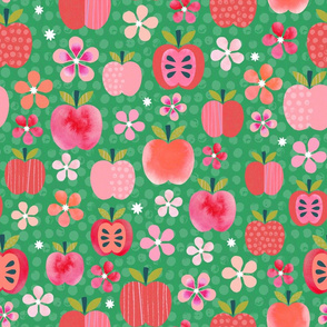 Pink Lady Apple Blossoms - Emerald