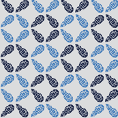 Buds Big - Summer Blue, Navy, Pale Grey