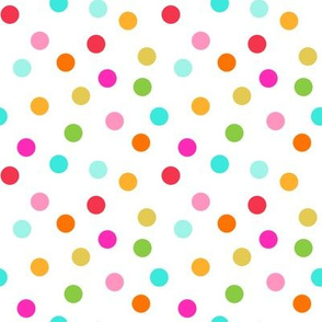 confetti dots on white