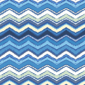 Blue painted chevron